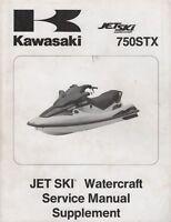 1998 KAWASAKI JET SKI 750STX SERVICE MANUAL SUPPLEMENT 99924-1238-51 (434)