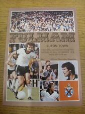 30/12/1978 Fulham v Luton Town  (Light Crease). Item appears to be in good condi