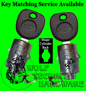 Chevy Silverado Others Door Lock Cylinder Barrel Tumbler Pair Set 2 Chevy Key