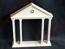 Plasticville Colonial Church Front Pillars White  O-S Scaled