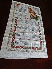 """VTG 1975 Linen Cloth Calendar Prayer Hands 16.5"""" x 28"""" Wall hanging Towel"""