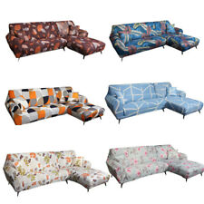 1/2/3/4 Seaters Sofa Cover Printing Protector Stretch Dust-proof Decor Polyester