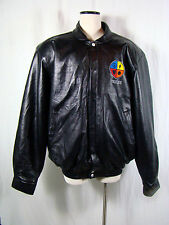 RARE - FULL Leather NBA Shaquille O'Neal DUNK.NET Jeff Hamilton Jacket 4XL XXXXL