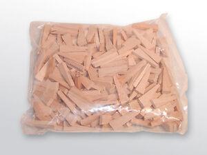 Holz Spaltplattenkeile, 250 Stück Größe 44 x 7 x 4-14 mm