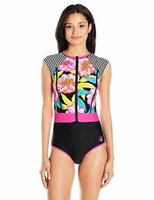 Body Glove Women's Sunlight Stand up Raglan Sleeve Zip Front Paddle Suit SIZE M