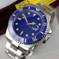 43mm Blau Sterile dial Datum Saphirglas Automatisch Movement Uhr mens Wristwatch