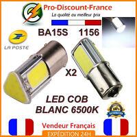 2 x ampoule LED COB BLANC BA15S 1156 P21W VOITURE Feux de Jour Recul