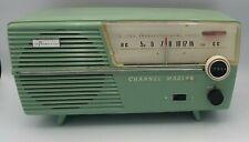 Vintage Teal Channel Master Model 6511 Transistor Radio Works 1960s