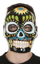 Day of the Dead Mask halloween Black Full Face Costume Día de la máscara muerta