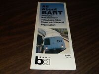 DECEMBER 1995 BART SYSTEM METRO SAN FRANCISCO MAP TRANSPORTATION GUIDE