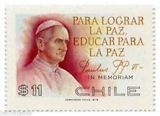 Chile 1979 #942 Jornada de Paz Papa Pablo VI MNH