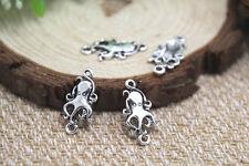 60pcs-pieuvre charms antique tibetan silver octopus charms pendentifs 13x15mm