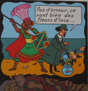 Herge (By) - Tintin The Temple The Sun - 3 Lithographs Exlibris, 2010