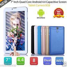 7 inch HD Dual SIM Camera 3G Quad Core Tablet PC Android4.4 8GB Bluetooth Lot