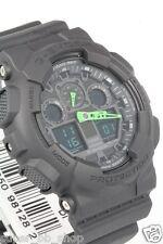 GA-100C-1A3 Black Green Casio Men's Watch G-Shock Analog Digital Resin 200m New