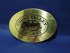 1997 Gala Day Colne Valley Railway CVR Brass Plate