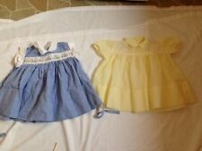 2 Adorable Baby or Doll Spring Dresses Handmade