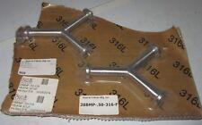 "2 Pc Sanitary Clamp True Y 1/2"" 316L NEW 28BMP-.50-316-F Steel & O'Brien Mfg NOS"