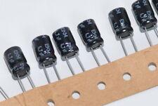 12x Electrolytic-/ Elko-Kondensator von ROE Typ EKM 4.7µF, 63 V, radial, NOS