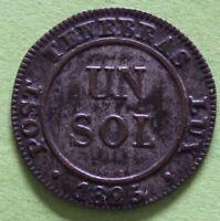 SUISSE UN SOL 1825 CANT. DE GENEVE