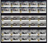 GRAHAM HILL 1968 LOTUS F1 W/CHAMP SET OF 3 MINT VIGNETTE STAMPS