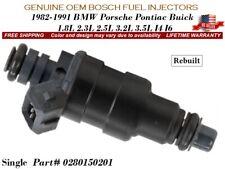 1 Fuel Injector OEM BOSCH for 1982-1991 BMW Porsche Pontiac Buick #0280150201