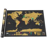 Rubbel Weltkarte Deluxe Scratch Off World Map Poster-Karte Landkarte zum Rubbeln