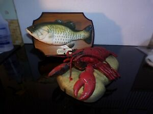 Vintage Big Mouth Billy Bass The Singing Sensation & Rocky The Singing Lobster