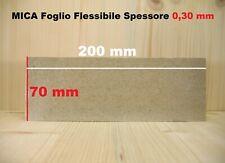 MICA Isolante termico alte temperature foglio FLESSIBILE 70X200 mm SP 0,30 mm