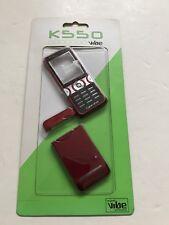 Sony Ericsson K550 Full Fascia Housing Cover Front Back Case Keypad Red