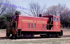 Lauringburg & Southern #104 GE 70-ton switcher locomotive railroad postcard