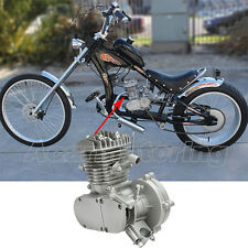 US 80cc 2-Stroke Bike Cycle Petrol Gas Silver Engine Motor for Motorized Bicycle