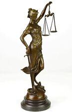 JUSTICIA BRONZE FIGUR SKULPTUR JUSTICE JUSTITIA JUSTIZIA H: 40 cm