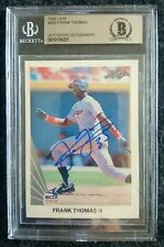 1990 Autographed Leaf Frank Thomas BGS Rookie SIgned Auo RC #300 Chicago HOF
