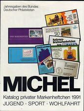 Michel Katalog private Markenheftchen 1991 - fast neuwertige Erhaltung