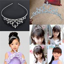 Stylish Kid Lady Tiara Hair Band Bridal Wedding Princess Prom Crown Headband FT