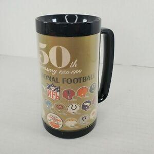 NFL 1969 50th Anniversary West Bend Thermo-Serv Plastic Mug Helmets League Logo