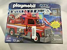 Playmobil 5980 RESCUE Ladder FIRE TRUCK - 4 -Up
