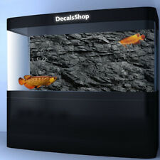 Black Stone Rock HD PVC Aquarium Background 3D FishTank Backdrop Decorations