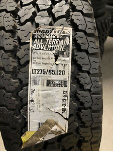 1 New LT 275 65 20 LRE 10 Ply Goodyear Wrangler A/T Adventure w/ Kevlar Tire