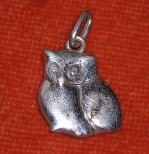 BIJOUX MINI CHOUETTE argent ou métal argenté ?? pendentif 2 grs
