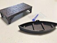 Pier & Boat w/ Oars - 28mm Miniatures Game - D&D, Blood & Plunder, Malifaux