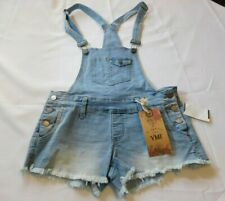 YMI Women's Junior's Denim Jean Overalls Shorts Blue S156257 L08 Size Variations