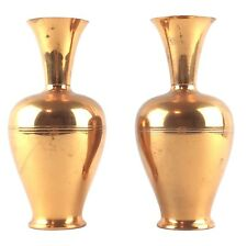 """Two Beautiful Vintage Copper Plated Vases 7.25"""" Tall Rembrandt Holland"""