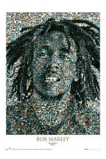 Bob Marley Mosaic Poster Cultural Iconic Reggae Rasta Dreads Wailers New!