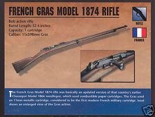 FRENCH GRAS MODEL 1874 RIFLE France Atlas Classic Firearms Gun PHOTO CARD