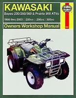 Haynes Manual de taller Kawasaki Atv Klf Kvf Bayou klf220 250 300 Prairie kvf300