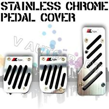 3PCS Non slip Manual Transmission MT CAR TRUCK CHROME PEDAL Foot PAD COVER REST
