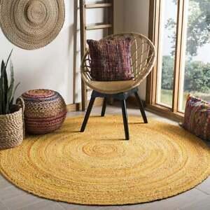 Rug 100% Natural Cotton Braided style Rug Living Area Carpet Handmade Modern Rug