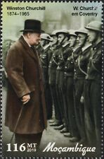 WWII 1941 COVENTRY BLITZ: PM WINSTON CHURCHILL Meets Fire Wardens Stamp (2019)